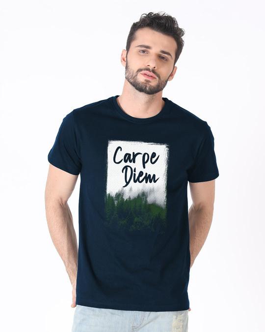 Shop Forest Carpe Diem Half Sleeve T-Shirt-Back