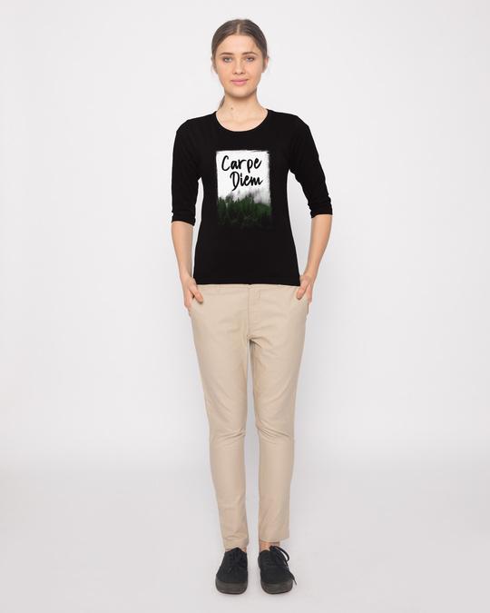 Shop Forest Carpe Diem Round Neck 3/4th Sleeve T-Shirt