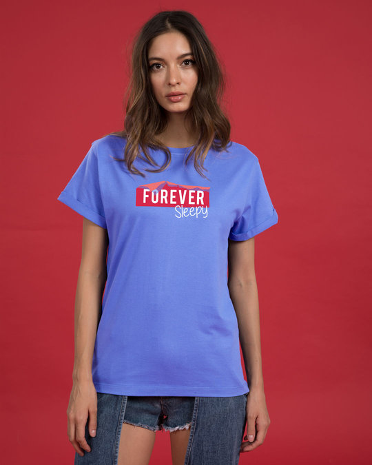 Shop Forever Sleepy Boyfriend T-Shirt-Front