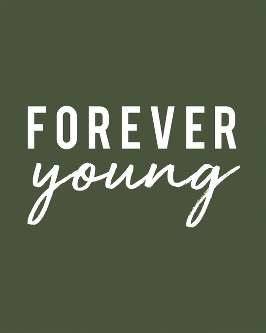 Shop Forever Young Basic Round Hem T-Shirt