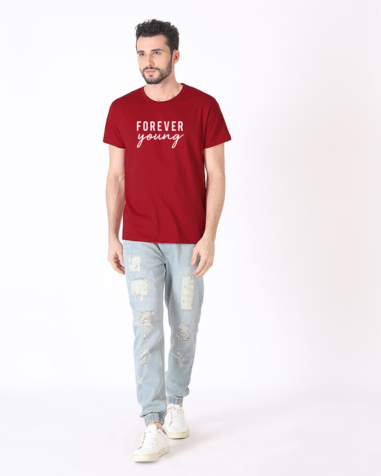 Shop Forever Young Half Sleeve T-Shirt