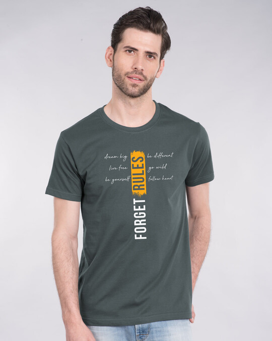 Shop Forget Rules Half Sleeve T-Shirt-Front