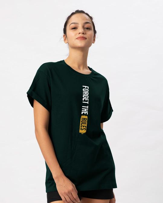Shop Forget The Rules Boyfriend T-Shirt-Back