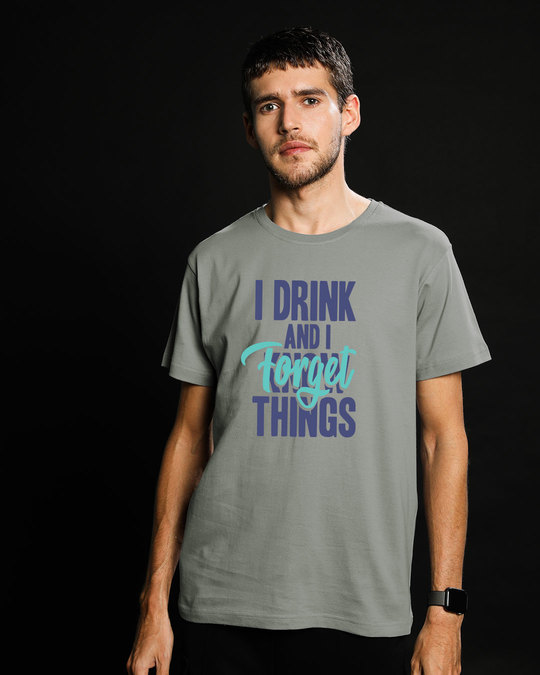 Shop Forget Things Half Sleeve T-Shirt-Back