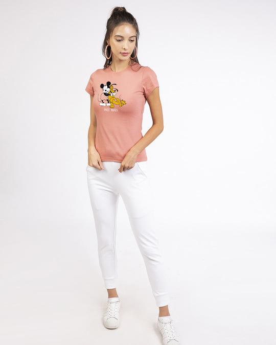 Shop Free Hugs- Mickey Half Sleeve T-shirt (DL)-Design