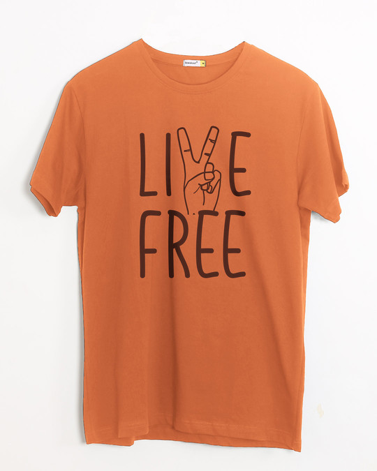 Shop Free Live Half Sleeve T-Shirt-Front