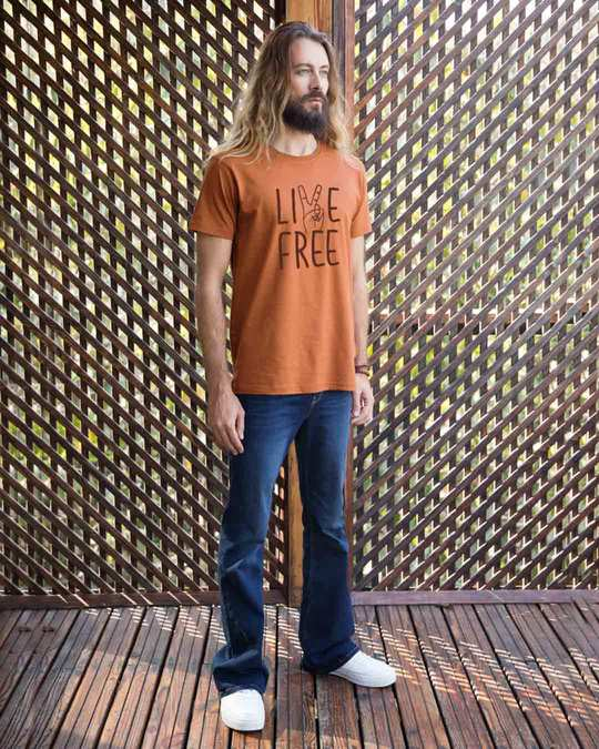 Shop Free Live Half Sleeve T-Shirt