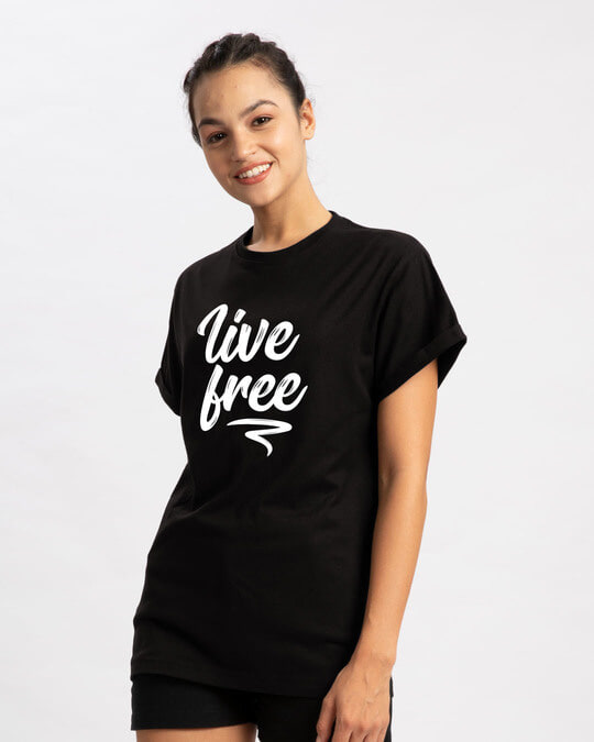Shop Free Living Boyfriend T-Shirt-Back