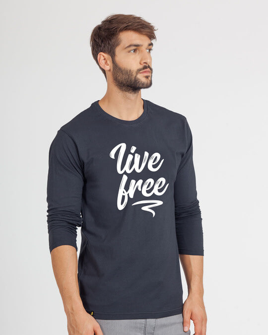 Shop Free Living Full Sleeve T-Shirt-Back