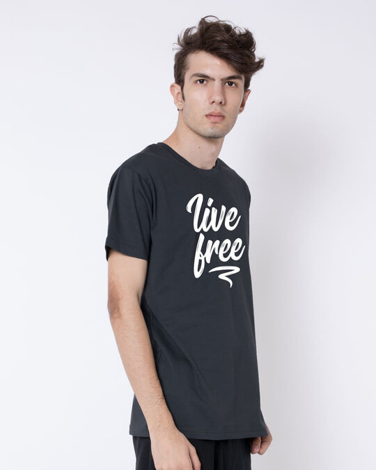 Shop Free Living Half Sleeve T-Shirt-Full