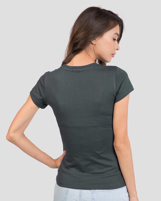 Shop Free Yourself Half Sleeve T-Shirt Nimbus Grey-Back