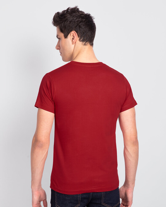 Shop Freedom Feather Half Sleeve T-Shirt Bold Red -Design