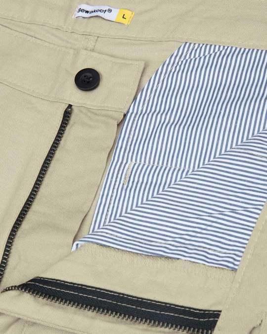 Shop French Beige Lightweight Slim Oxford Shorts