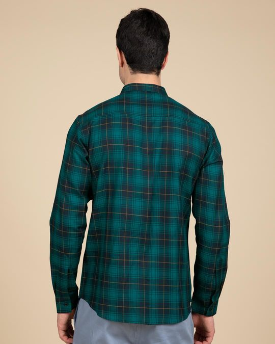 Shop French Cyan Blue Checked Shirt-Design