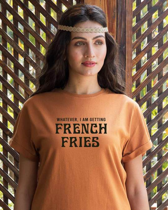 Shop French Fries Boyfriend T-Shirt-Front