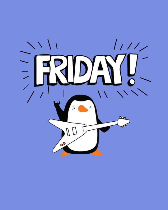 Shop Friday Penguin Boyfriend T-Shirt-Full