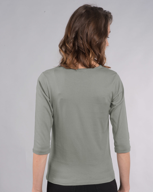 Shop Friday Penguin Round Neck 3/4th Sleeve T-Shirt-Back