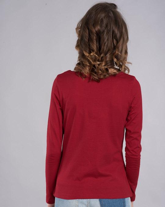Shop Friday Penguin Scoop Neck Full Sleeve T-Shirt-Back