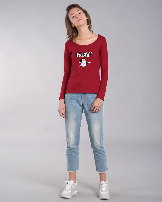 Shop Friday Penguin Scoop Neck Full Sleeve T-Shirt-Design