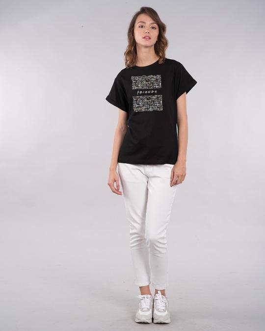 Shop Friends Doodle Boyfriend T-Shirt (FRL)-Design