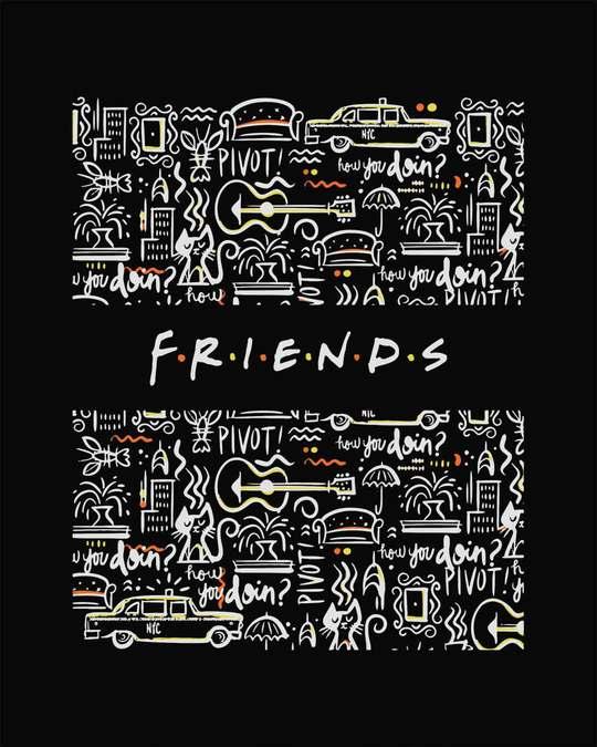 Shop Friends Doodle Boyfriend T-Shirt (FRL)
