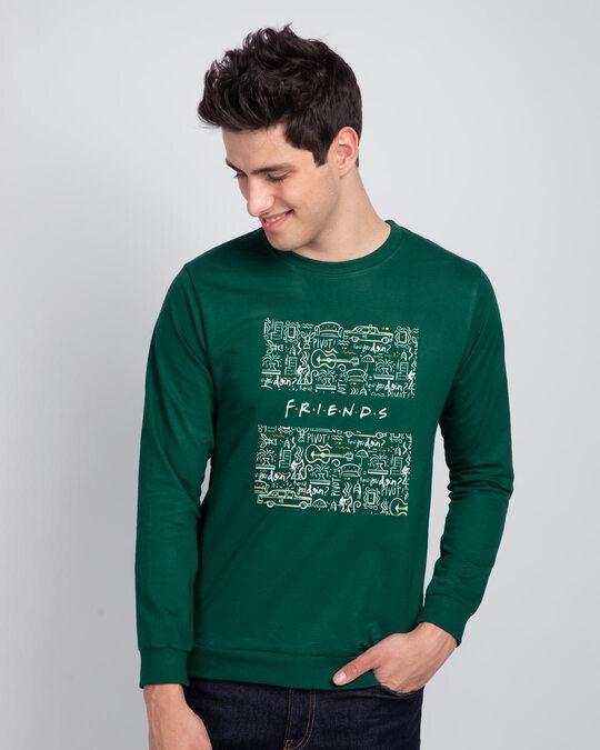Shop Friends Doodle Fleece Light Sweatshirt (FRL)-Back