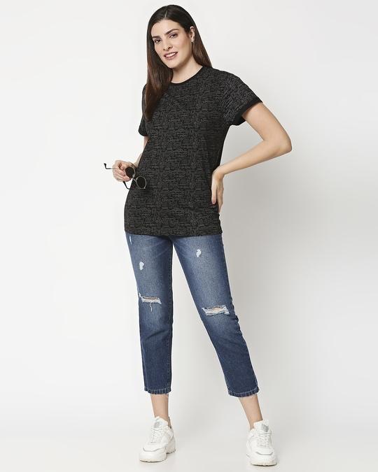 Shop Friends doodle (FRL) AOP Boyfriend T-Shirt