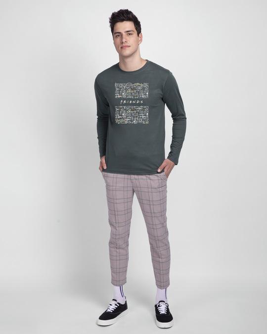 Shop Friends Doodle Full Sleeve T-Shirt (FRL)-Full