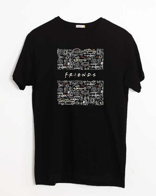 Shop Friends Doodle Half Sleeve T-Shirt (FRL)-Front