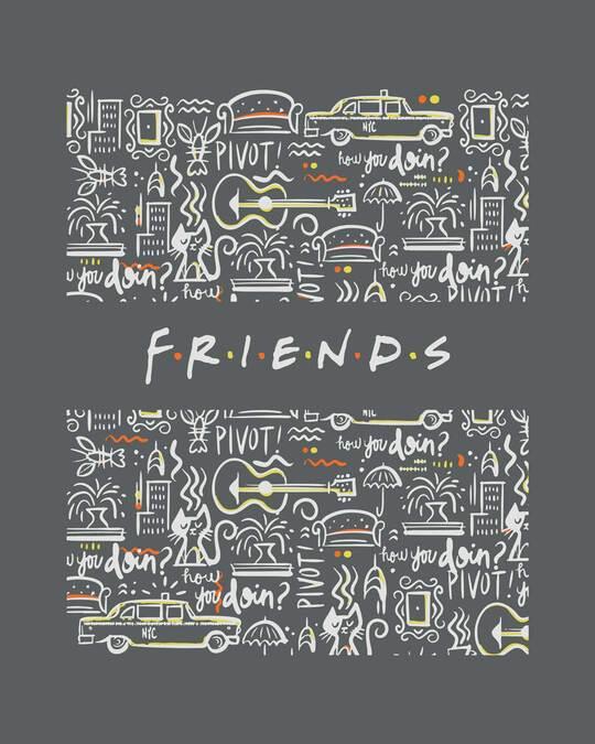 Shop Friends Doodle Half Sleeve T-Shirt (FRL)-Full
