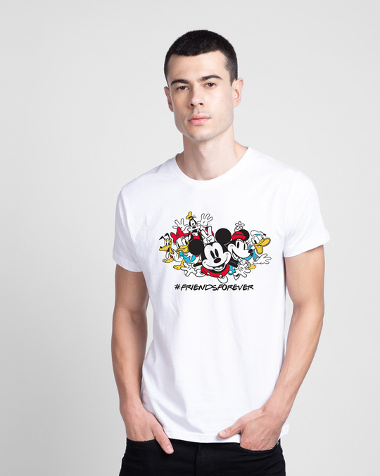 Shop Friends Forever Mickey Half Sleeve T-Shirt (DL)-Front