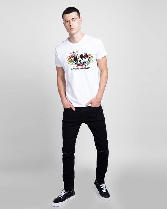 Shop Friends Forever Mickey Half Sleeve T-Shirt (DL)-Design