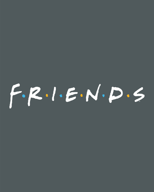 Shop Friends Logo Boyfriend T-Shirt (FRL)