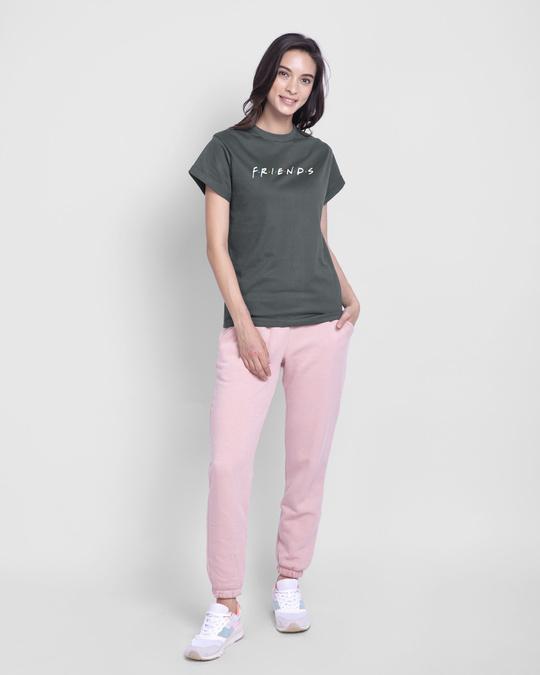 Shop Friends Logo Boyfriend T-Shirt (FRL)-Full