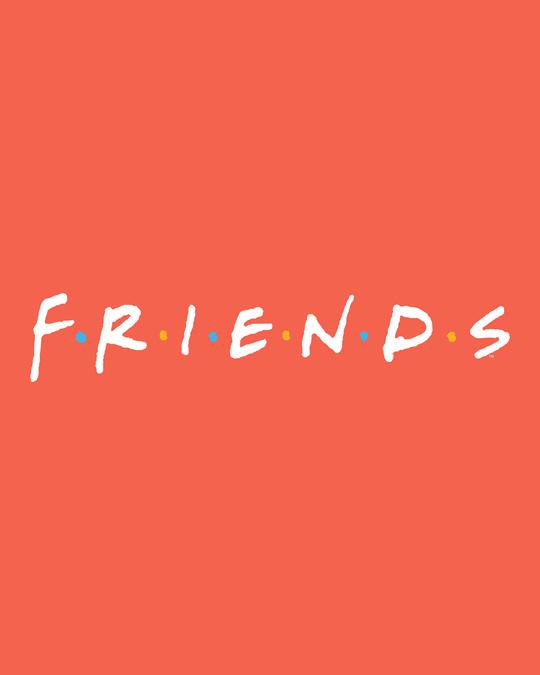 Shop Friends logo Boyfriend T-Shirts (FRL)-Full