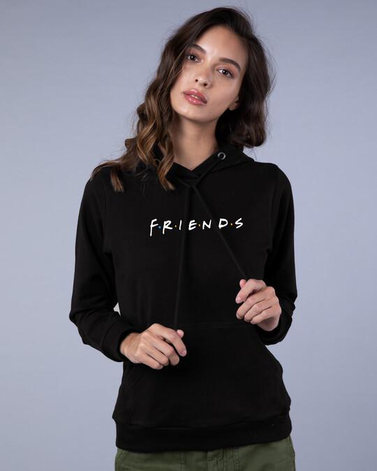 Shop Friends Logo Fleece Hoodie (FRL)-Front