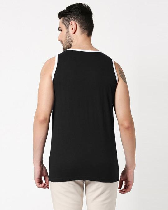 Shop Friends logo FRL Contrast Binding Round Neck Vest-Back