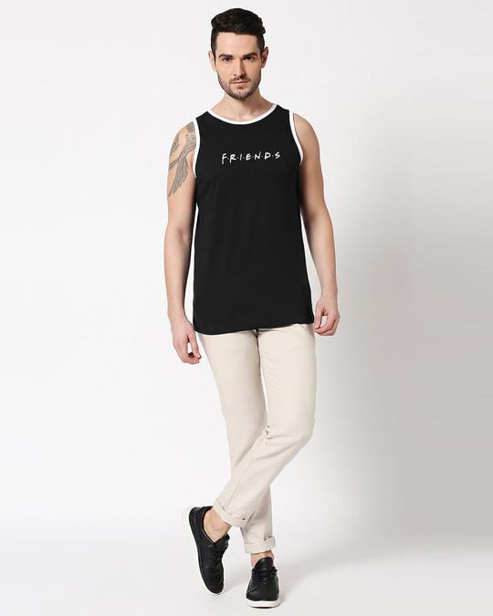 Shop Friends logo FRL Contrast Binding Round Neck Vest-Design