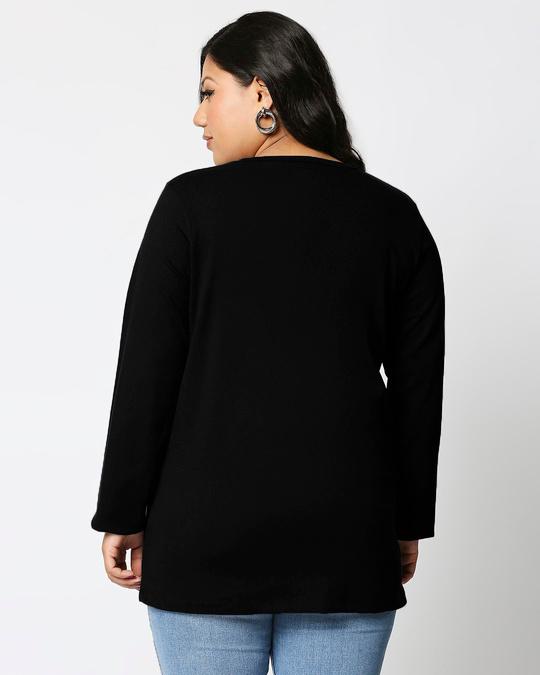 Shop Friends Logo Full Sleeves Printed T-Shirt Plus Size (FRL)-Back