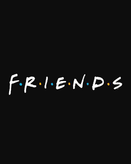 Shop Friends Logo Full Sleeves Printed T-Shirt Plus Size (FRL)-Full