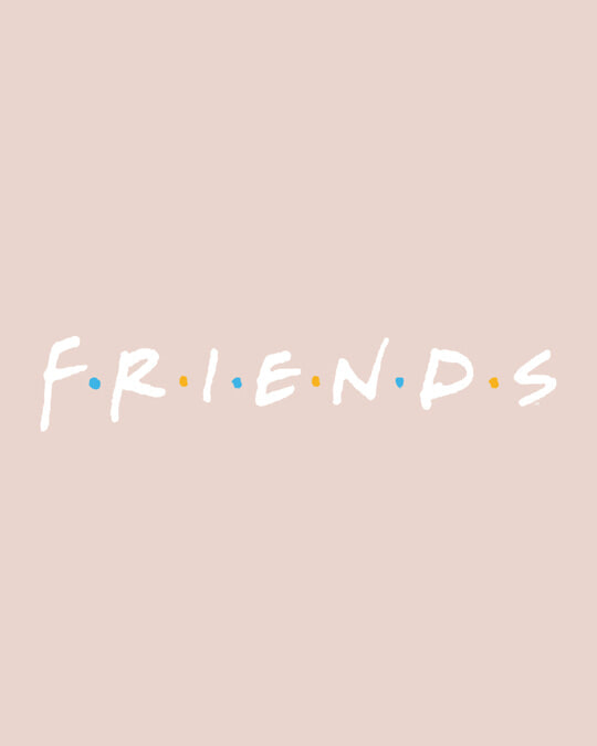 Shop Friends Logo Full Sleeve T-Shirt (FRL)