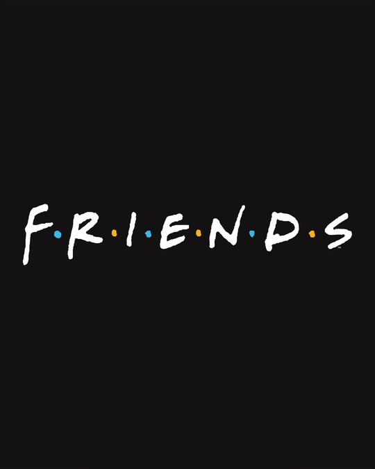 Shop Friends Logo Half Sleeve T-Shirt (FRL)