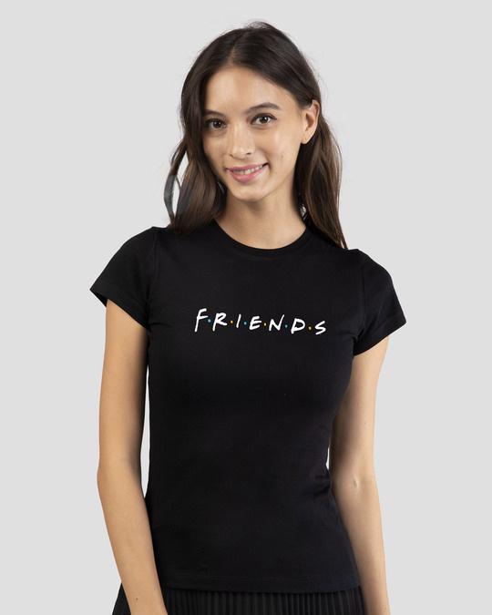Shop Friends Logo Half Sleeve T-shirt (FRL)-Front