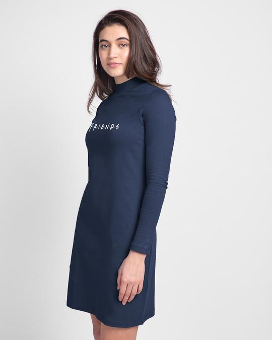 Shop Friends Logo High Neck Pocket Dress (FRL)-Back