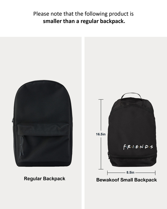 Shop Friends Logo Printed Small Backpack (FRL)-Back