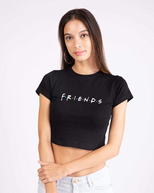 Shop Friends Logo Round Neck Crop Top (FRL)-Front