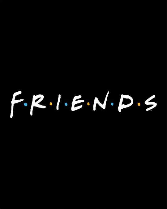 Shop Friends Logo Round Neck Crop Top (FRL)-Full
