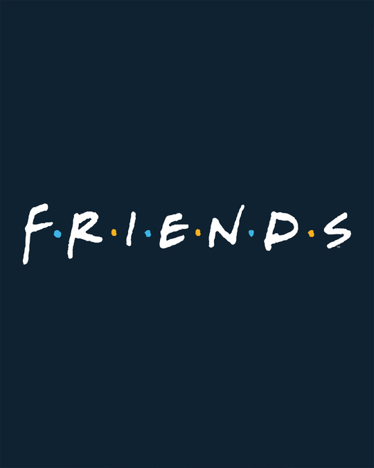 Shop Friends Logo Half Sleeve T-shirt (FRL)-Full