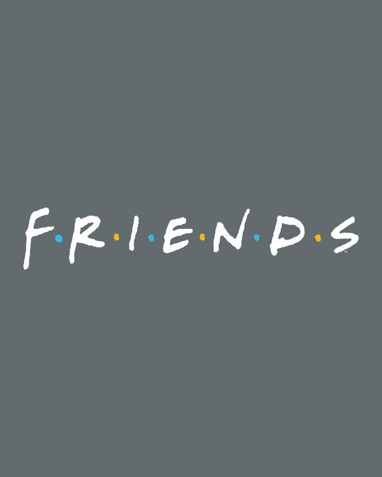 Shop Friends Logo Half Sleeve T-shirt (FRL)-Full