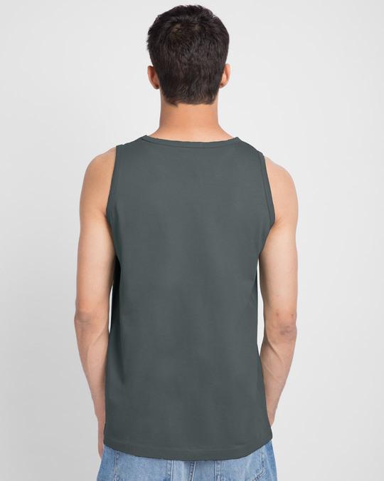 Shop Friends Logo Round Neck Vest (FRL) Nimbus Grey-Back